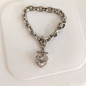 Juicy Couture Charm Bracelet silver heart